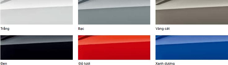 Màu sắc ngoại thất của Hyundai Kona 2019.