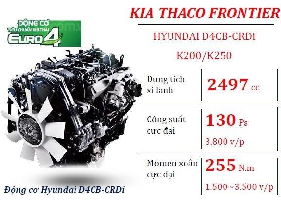 Thaco Bình Dương bán xe tải 2,5 tấn Kia K250, động cơ Hyundai đời 2019, thùng cải tạo chở kính - LH: 0944.813.912-7