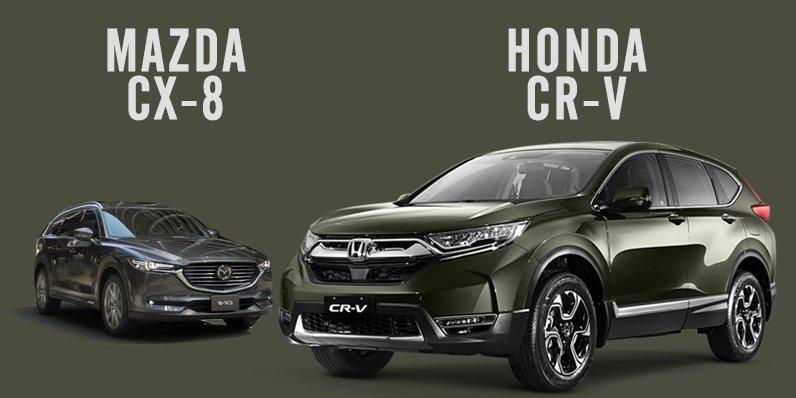 So sánh xe Mazda CX-8 2019 và Honda CR-V 2019: Giá cả có nói lên chất lượng?.