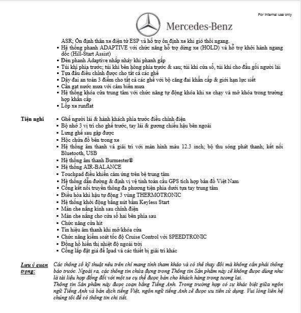 Thông số kỹ thuậtMercedes-Benz E200 Sport 2019tại Việt Nam a2