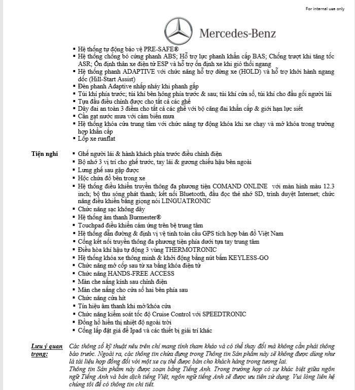 Thông số kỹ thuậtMercedes-Benz E350 AMG2019 a2