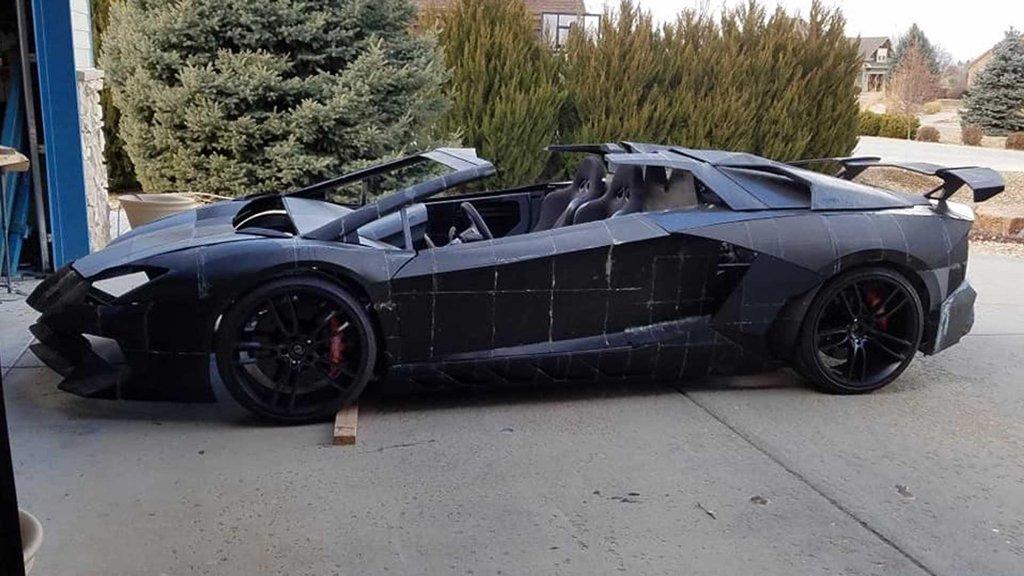 Ngắm chiếc Lamborghini Aventador 3D tự chế của hai bố con Tiến sĩ vật lý a1