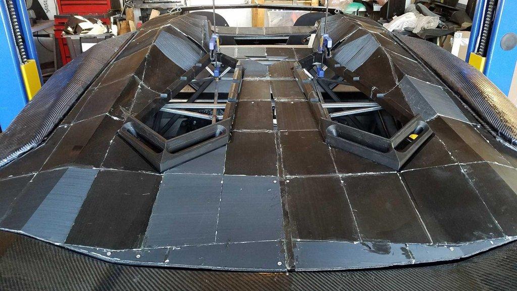 Ngắm chiếc Lamborghini Aventador 3D tự chế của hai bố con Tiến sĩ vật lý a9