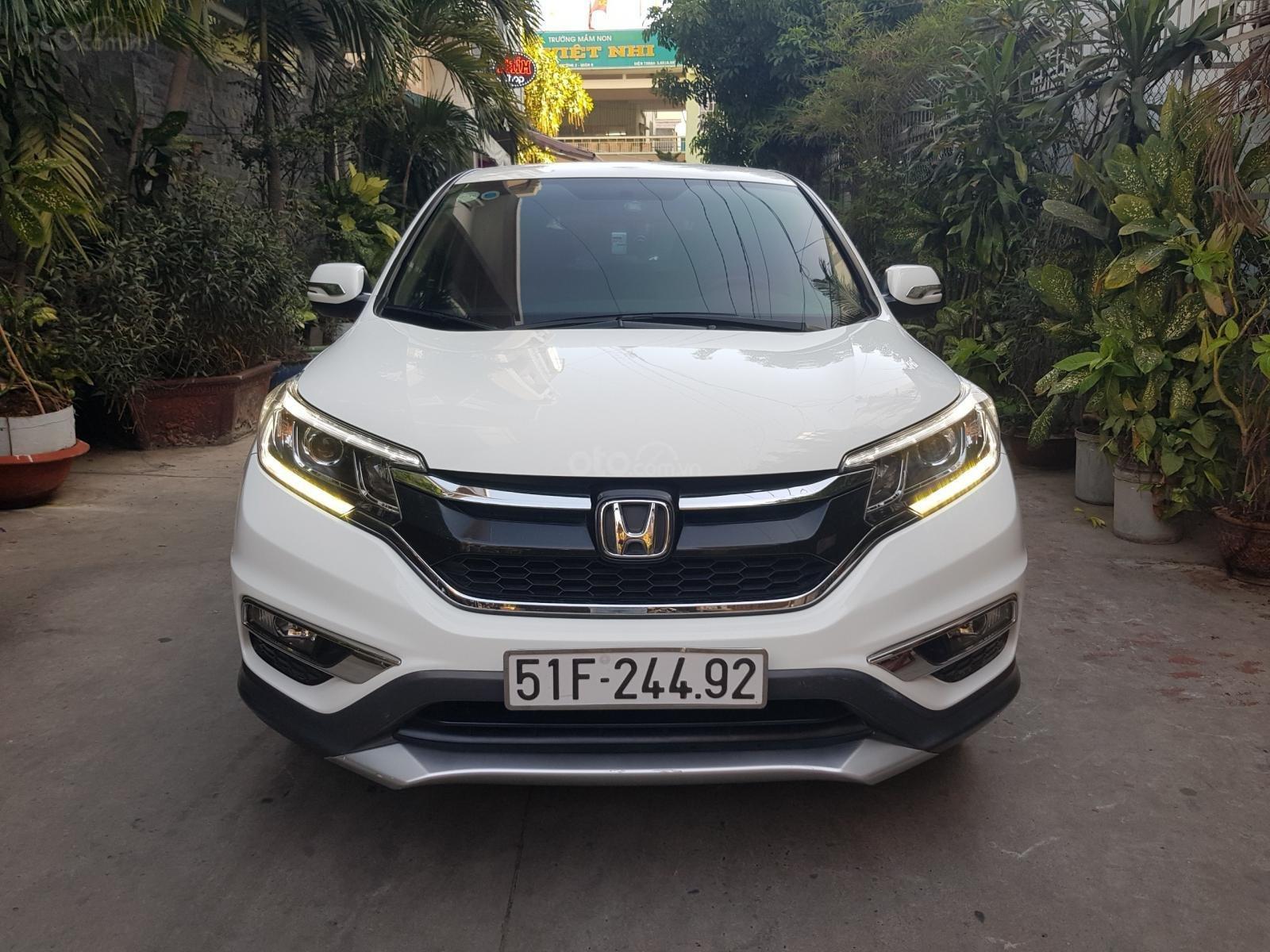 Bán ô tô Honda CR V 2.0 AT đời 2015, màu trắng giá cạnh tranh (9)