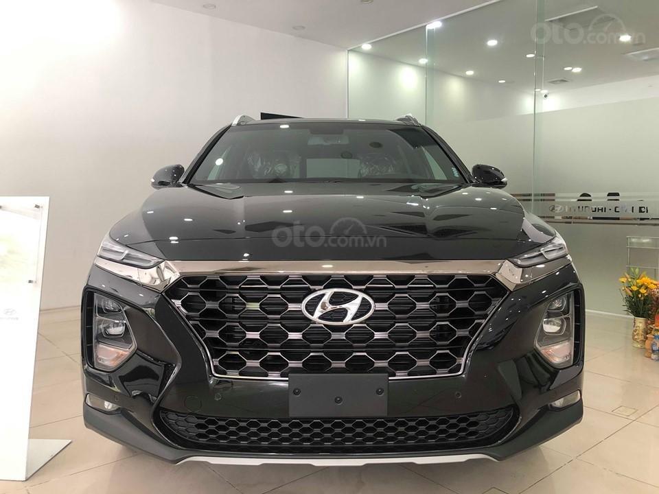 Hyundai Cầu Diễn - Bán Hyundai Santafe 2019 xăng cao cấp màu đen, tặng 10triệu - nhiều ưu đãi. LH: 0964898932 (1)
