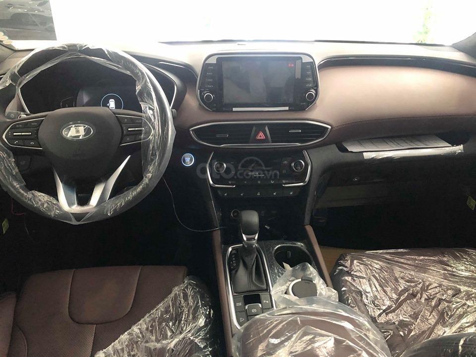 Hyundai Cầu Diễn - Bán Hyundai Santafe 2019 xăng cao cấp màu đen, tặng 10triệu - nhiều ưu đãi. LH: 0964898932 (7)