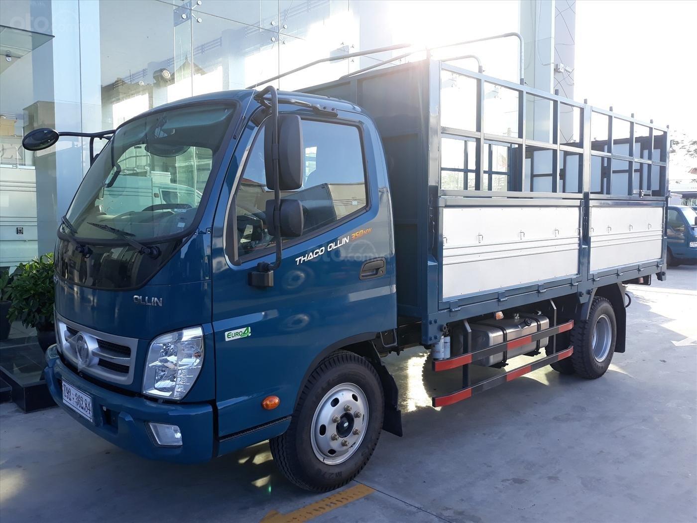 Bán xe Thaco Ollin 350. E4 3,49 tấn/2,2 tấn thùng 4,35 mét, giá chỉ 354 triệu. Lh Lộc 0937616037-0