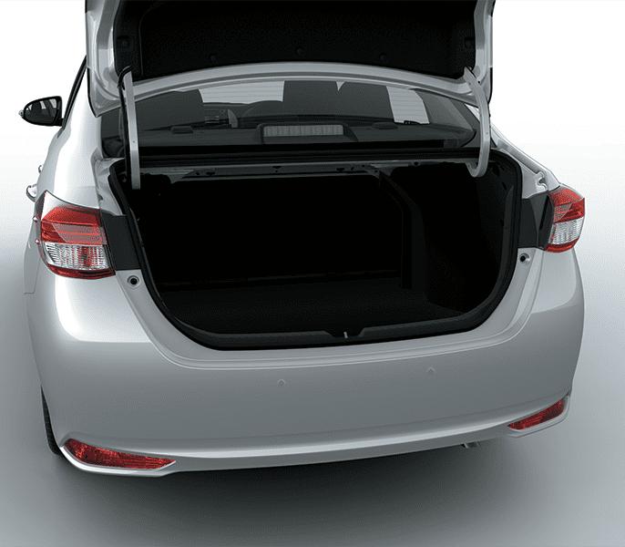 Đánh giá xe Toyota Vios 2019 1.5G CVT về không gian chứa đồ 1