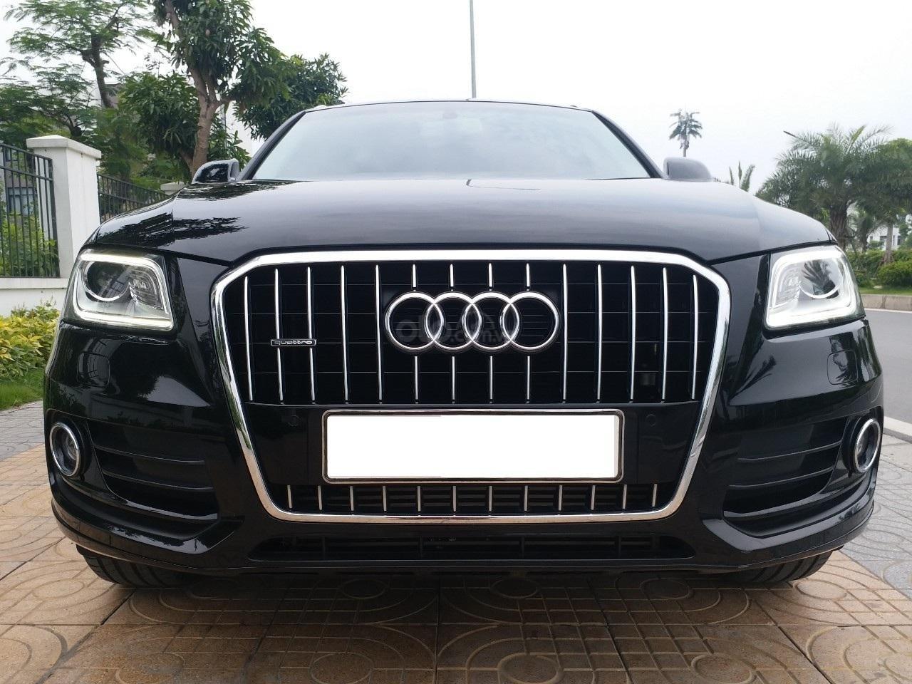 Bán Audi Q5 2.0 TFSI màu đen/ nâu, sản xuất cuối 2015 nhập Đức, đăng ký 2016 tên tư nhân (1)