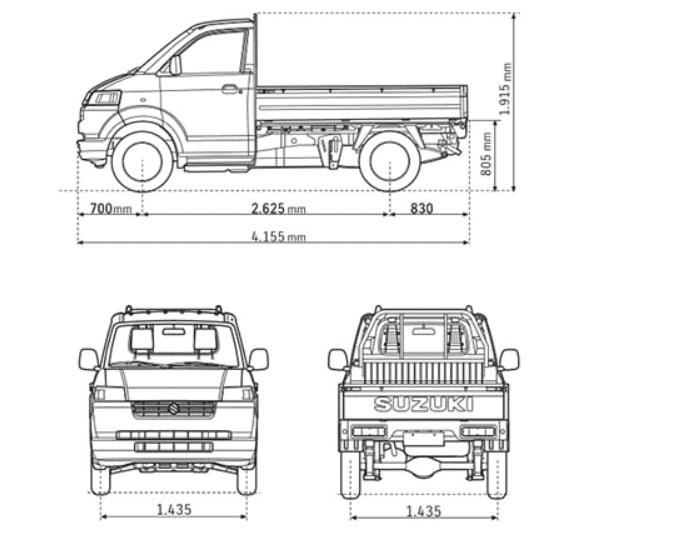 Thông số kỹ thuật xe Suzuki Carry 2019 a3