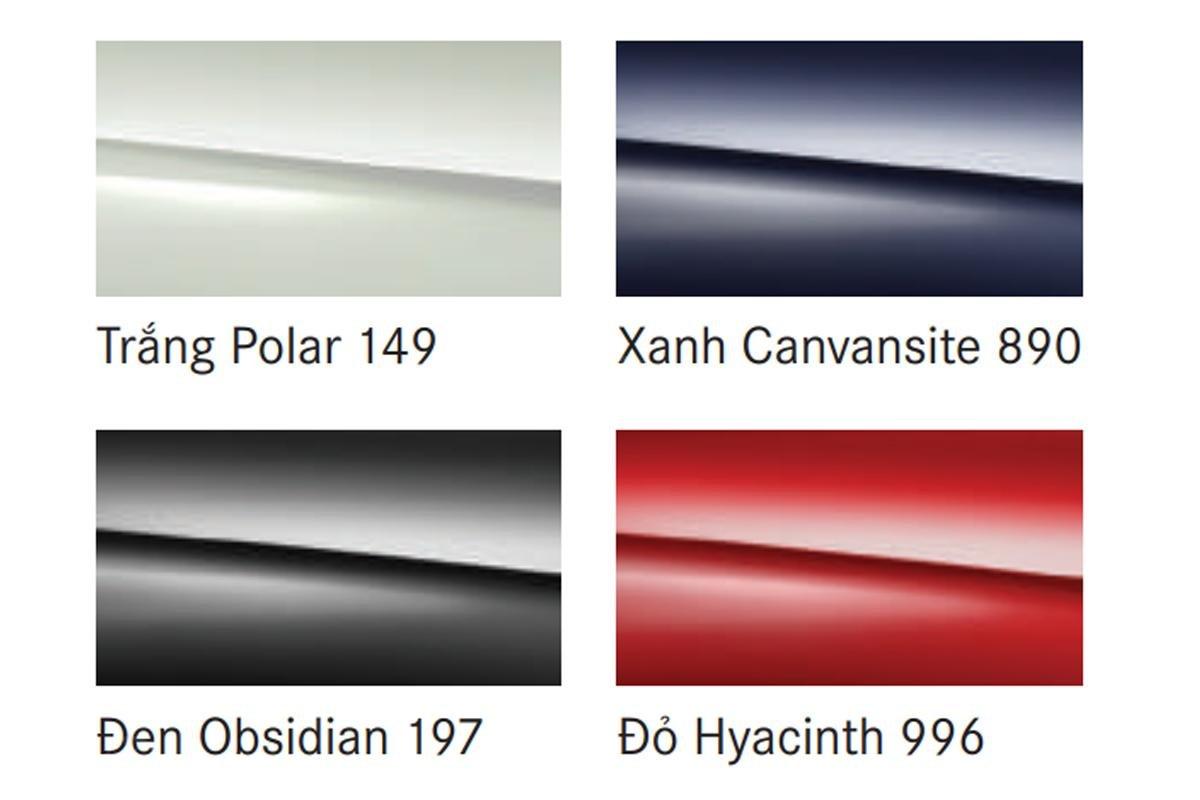 Màu sắc ngoại thất Mercedes-Benz C200 2019.