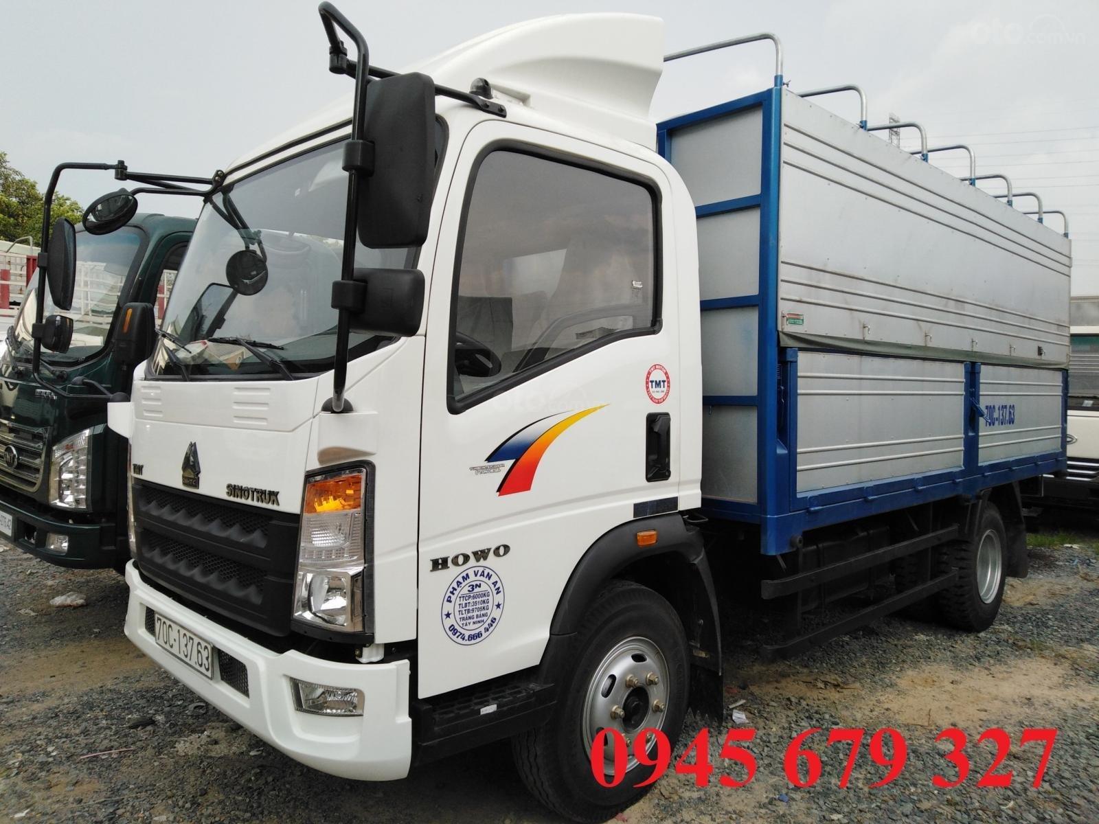 Thanh lý  xe tải Howo 6T, máy Isuzu ga cơ giá rẻ trảgóp (2)