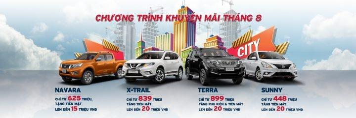 Nissan khuyến mại tháng 8, X-Trail và Sunny giảm cao nhất 20 triệu đồng a1