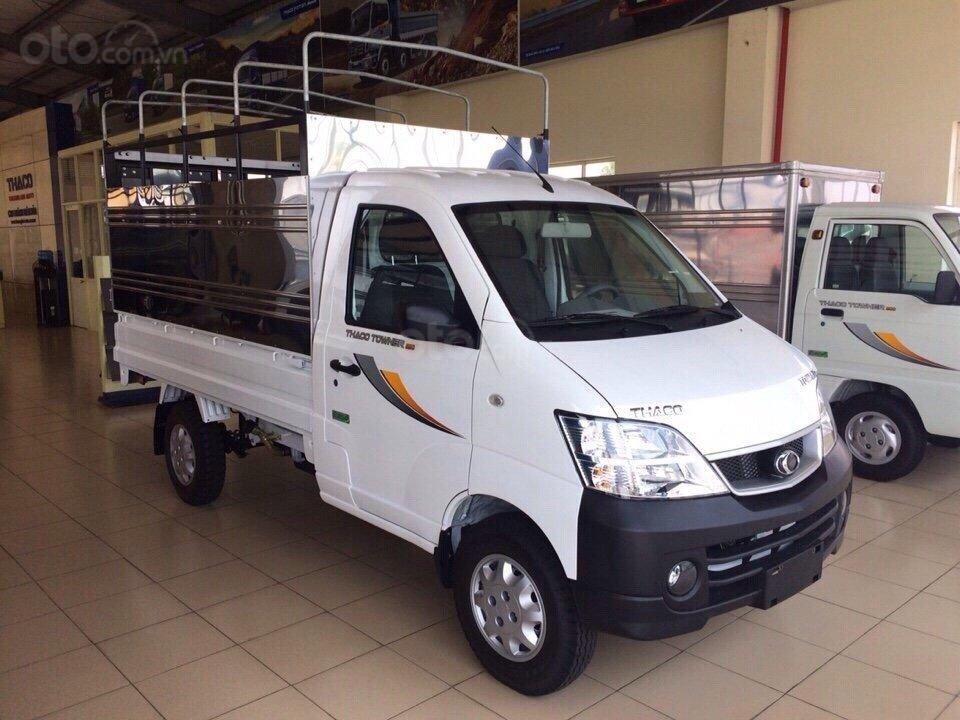 Bán ô tô Thaco TOWNER 990 Kg, động cơ Suzuki sản xuất 2019, thùng mui bạt, trả góp 75% tại Bình Dương - LH 0944.813.912 (1)