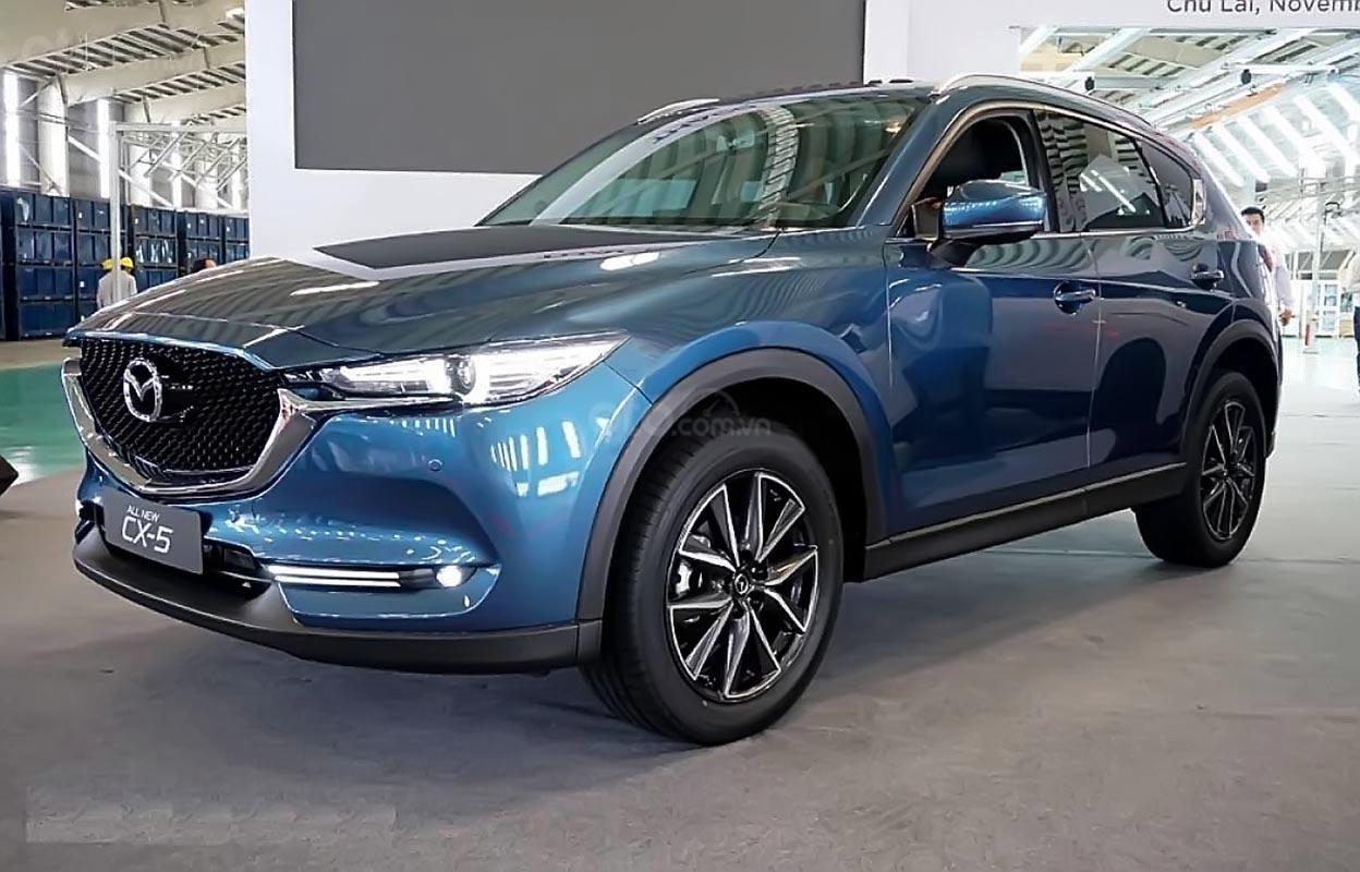 Bán Mazda CX 5 2.0 AT đời 2018, màu xanh lam (1)
