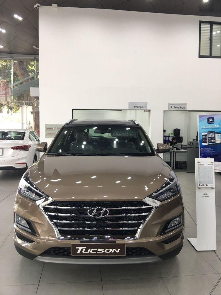 Bán Hyundai Tucson năm sản xuất 2019, màu nâu, xe nhập-0