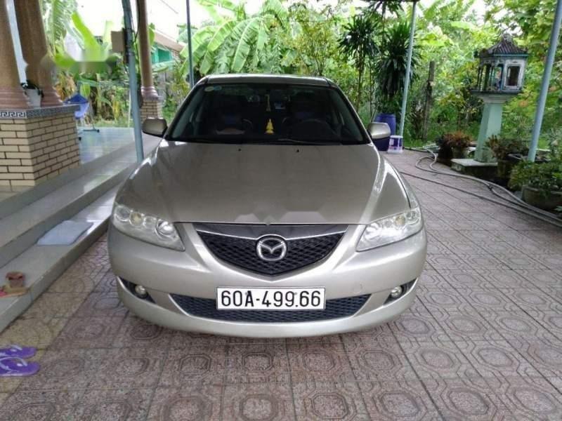 Bán ô tô Mazda 6 năm 2003, màu vàng, giá chỉ 310 triệu-1
