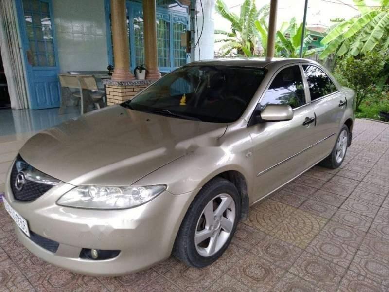 Bán ô tô Mazda 6 năm 2003, màu vàng, giá chỉ 310 triệu-2