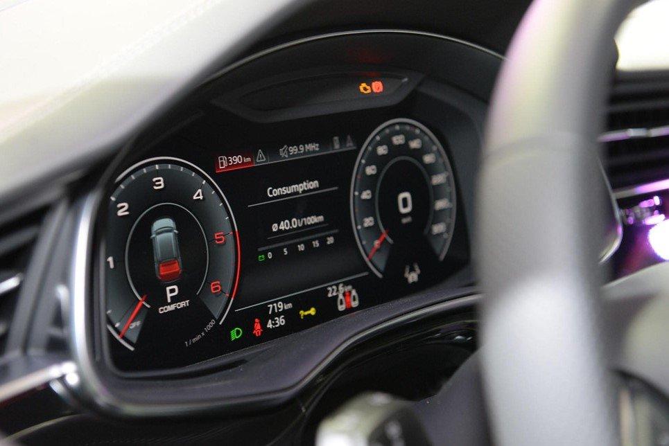 Cụm đồng hồ kỹ thuật số LCD phía sau vô lăng