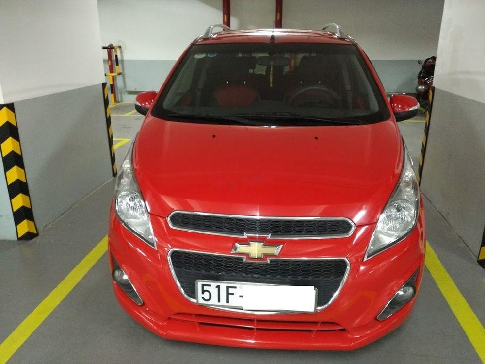 Cần bán lại xe Chevrolet Spark đời 2014, màu đỏ số tự động (1)