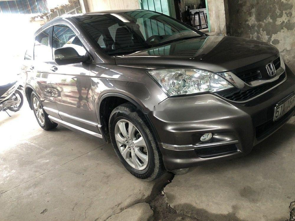 Bán Honda CR V đời 2011, màu xám số tự động, 550tr-6