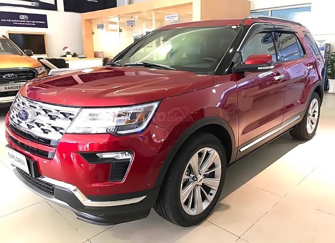 Bán xe Ford Explorer Limited 2.3L EcoBoost đời 2018, màu đỏ, xe nhập (1)