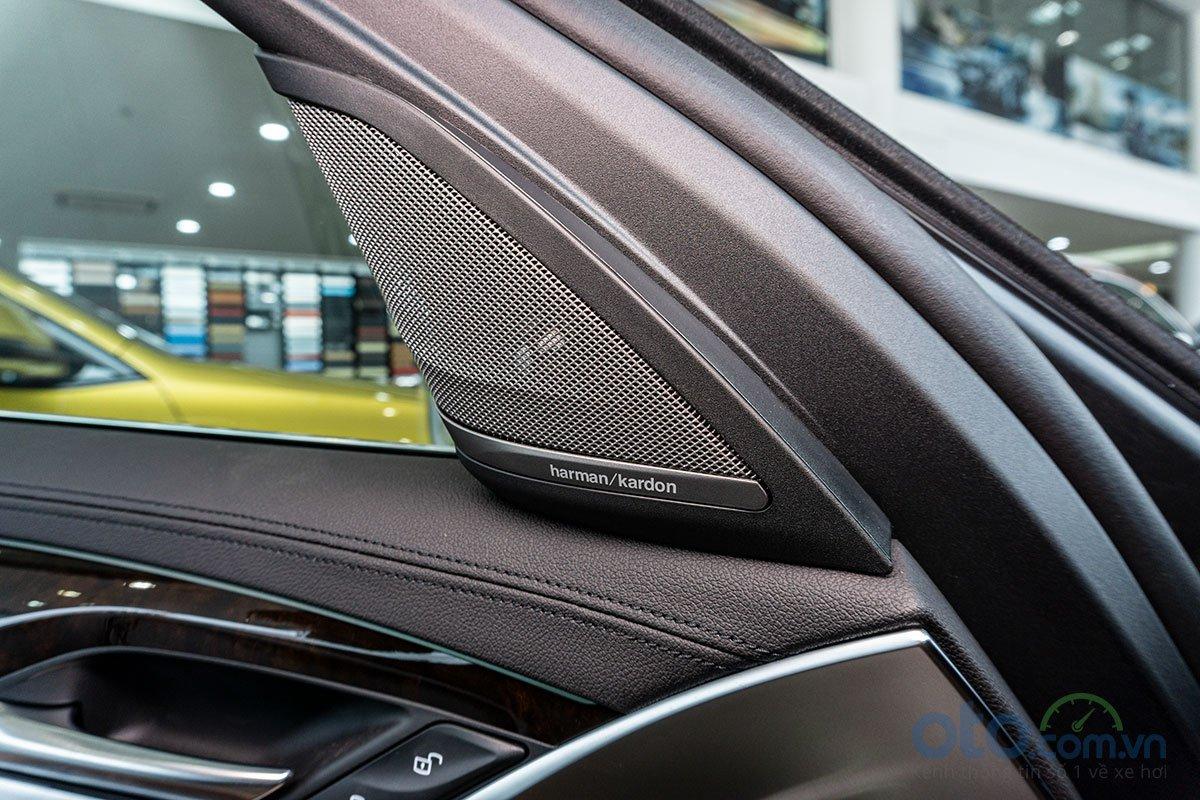 Đánh giá xe BMW 530i 2019: Dàn âm thanh Harman Kardon.