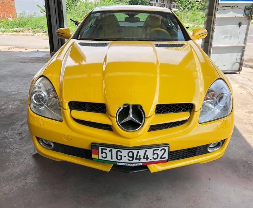 Bán Mercedes SLK350 2008, màu vàng, nhập khẩu (2)