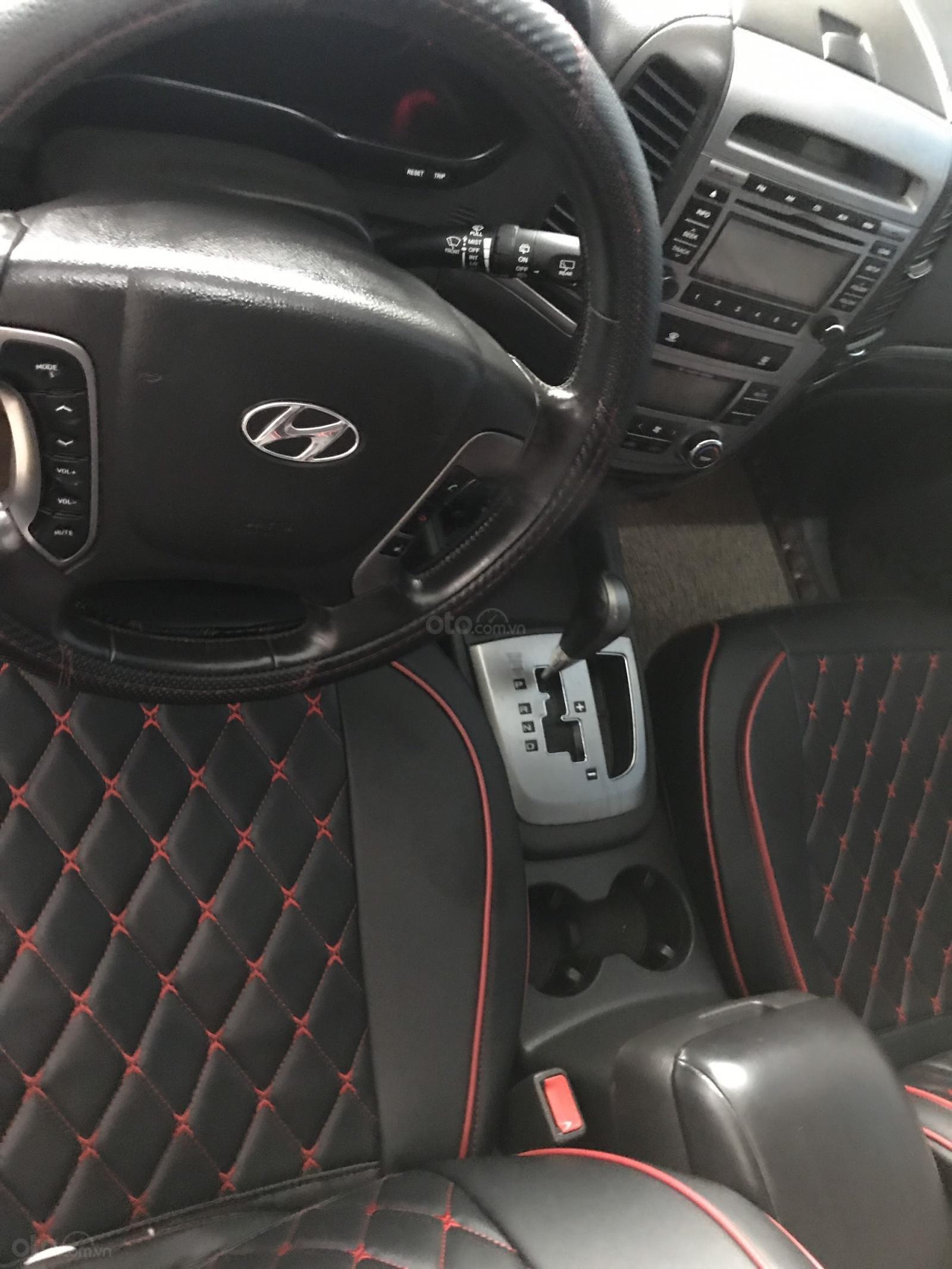 Cần bán xe Hyundai Santa Fe SLX sản xuất 2009, màu đen, nhập khẩu (8)