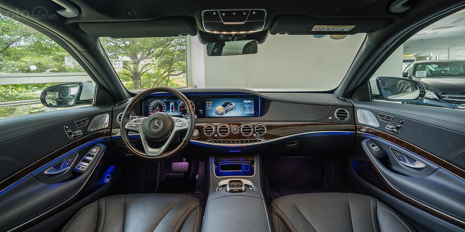 Bán Mercedes-Benz S450L 2018, trắng/đen, đi 3.800km, xe cũ đã qua sử dụng chính hãng-4