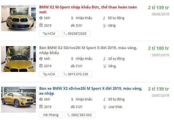 BMW X2 2019có khuyến mại gì trong tháng 9?.