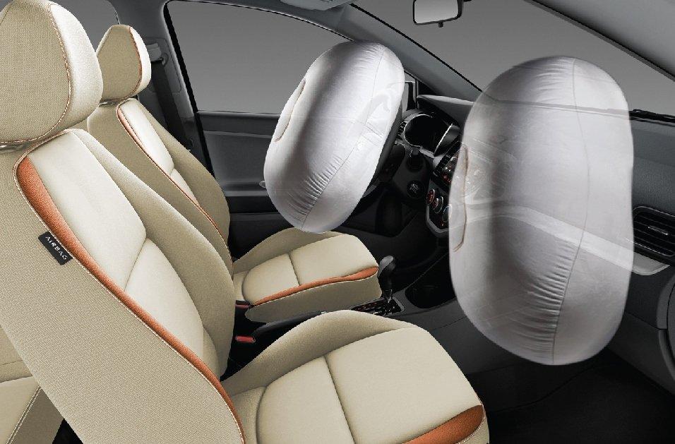 Kia Morning trang bị đủ các hệ thống an toàn tiêu chuẩn.