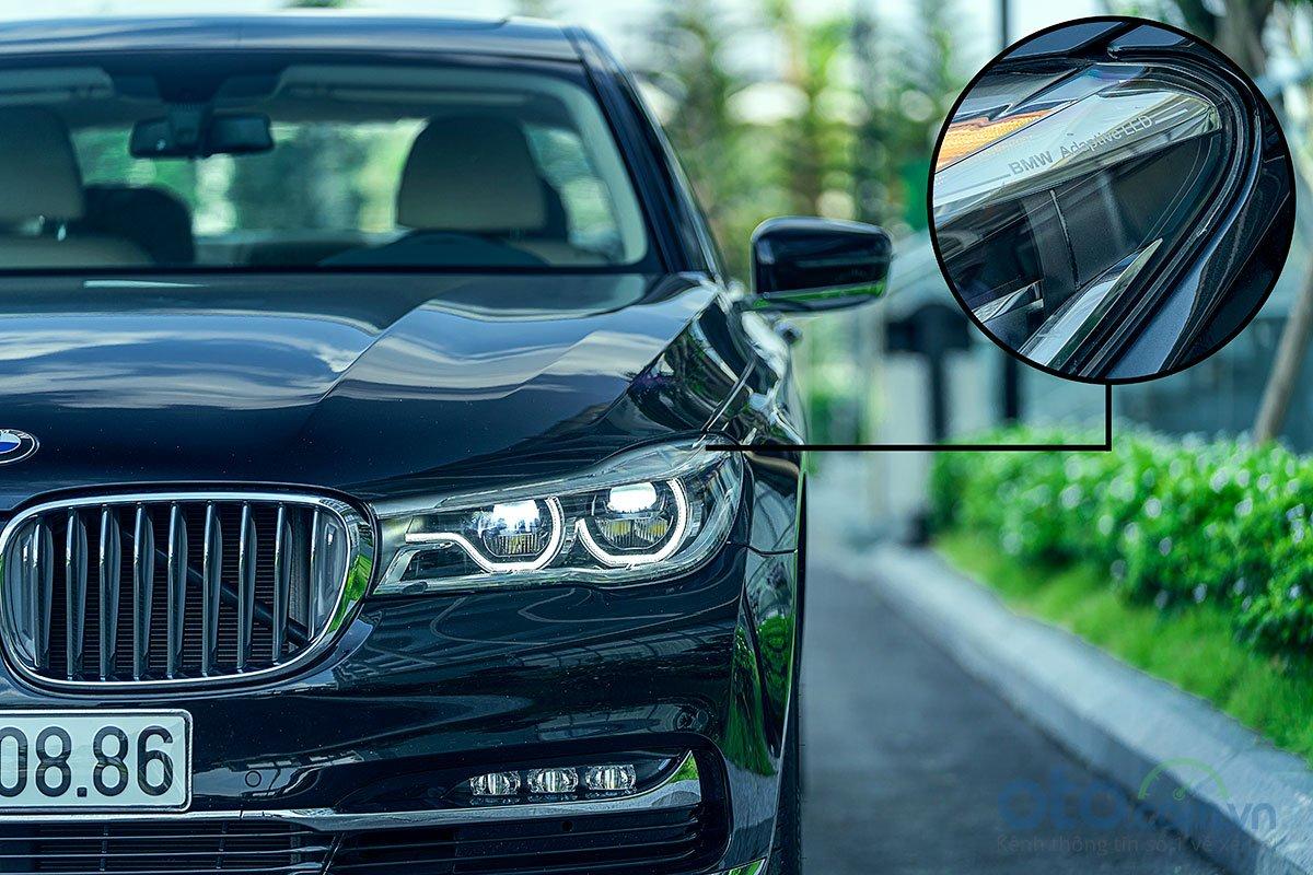 Đánh giá xe BMW 730Li 2019: Đèn pha Full LED thích ứng thông minh.