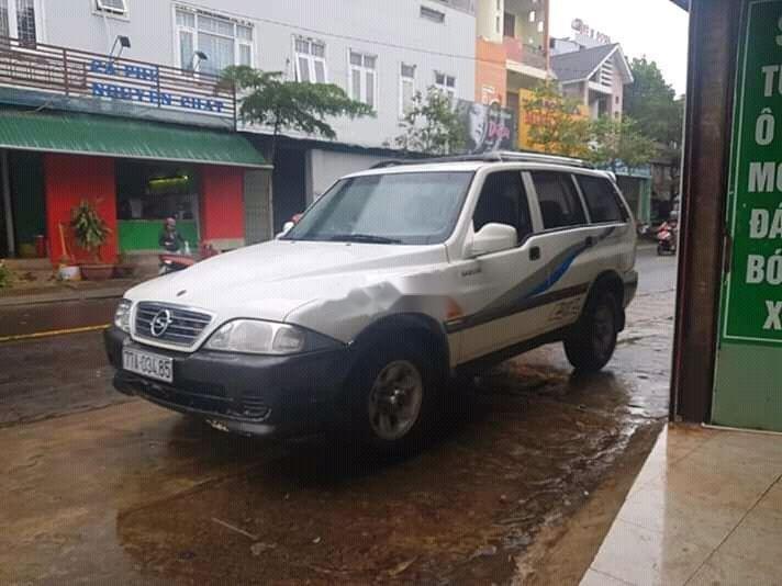 Bán Ssangyong Musso đời 2003, màu trắng, nhập khẩu (1)