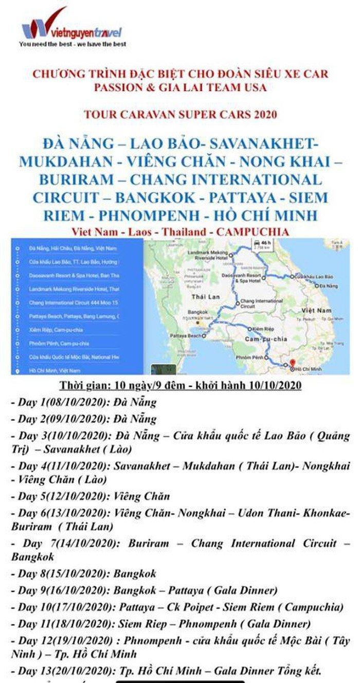 Lịch trình dự kiến của Đông Nam Á Rally 2020