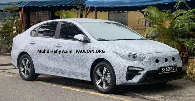 Kia Cerato 2019 âm thầm chạy thử tại Malaysia a1