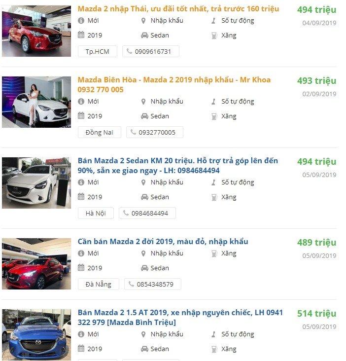 Mazda 2 2019 được khuyến mại gì không? 1a