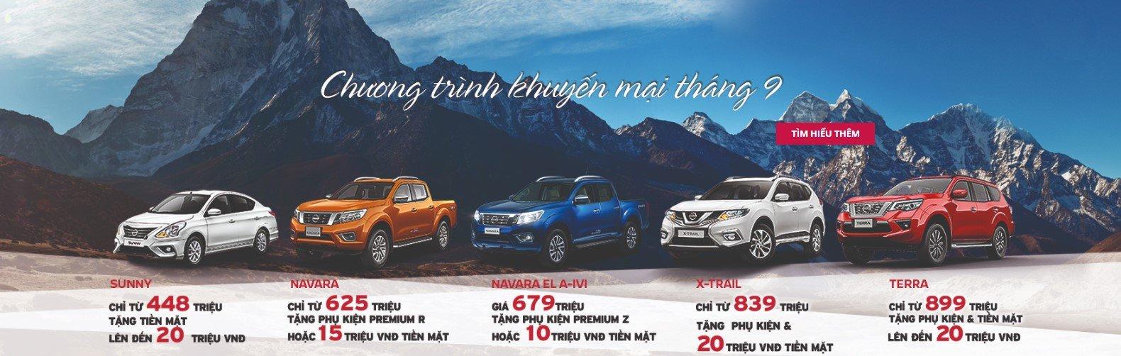 Nissan Việt Nam khuyến mại tháng 9/2019: Ưu đãi đồng loạt cao nhất 20 triệu đồng a1