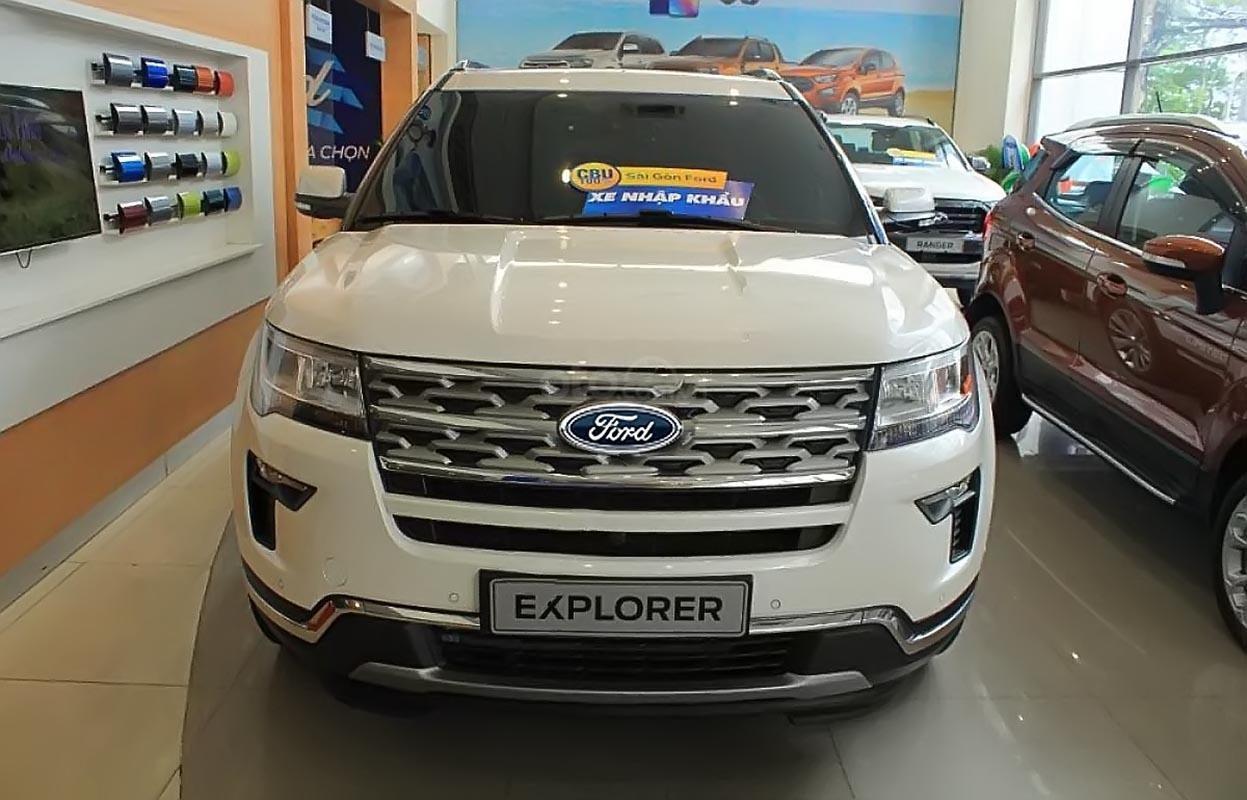 Bán Ford Explorer Limited 2.3L EcoBoost đời 2019, màu trắng, nhập khẩu nguyên chiếc (5)