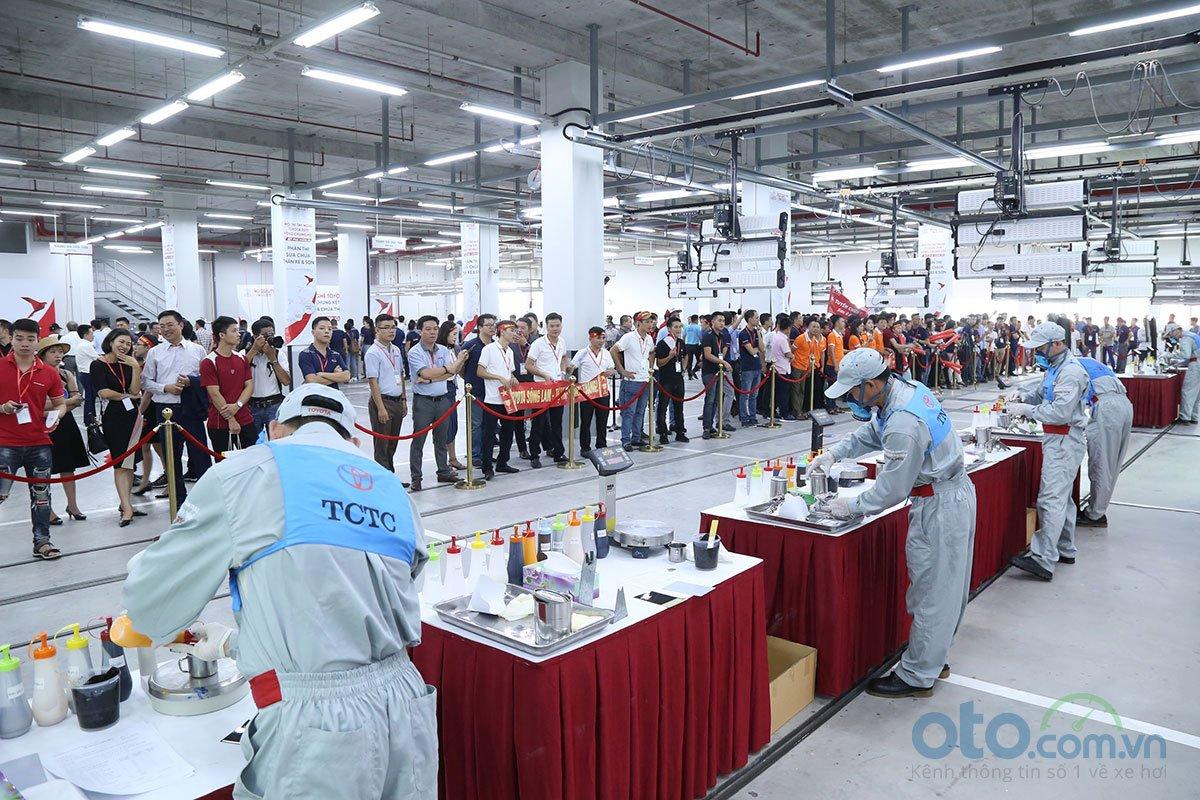 Hội thi tay nghề Toyota 2019 - phần thi sửa chữa sơn.