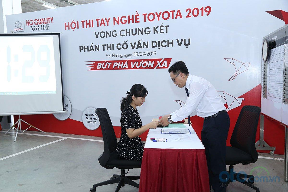 Hội thi tay nghề Toyota 2019 - Tư vấn dịch vụ bán hàng.