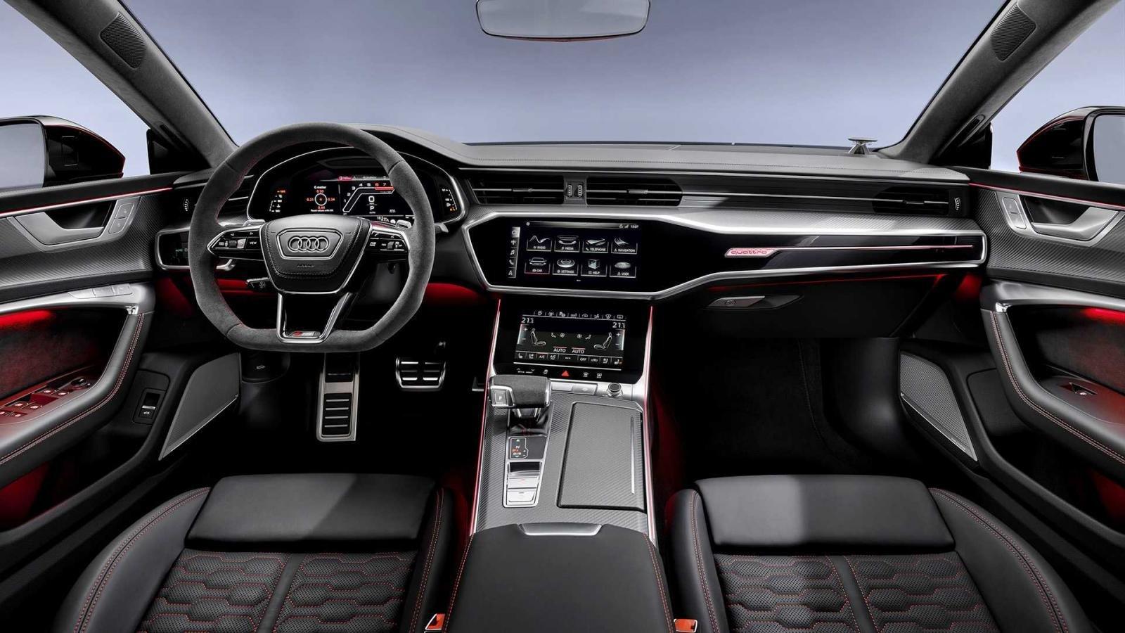 Nội thất Audi RS7 Sportback bọc da Nappa cao cấp.