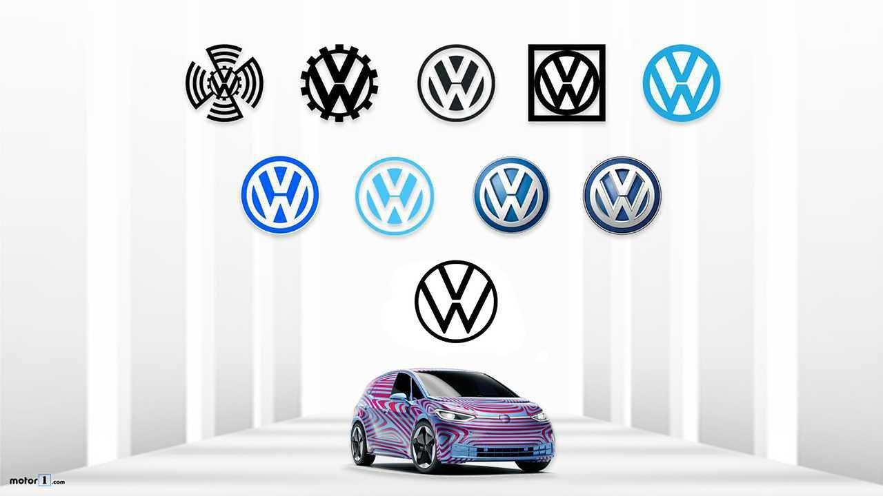 Lịch sử phát triển logo của Volkswagen từ 1937 cho đến nay.