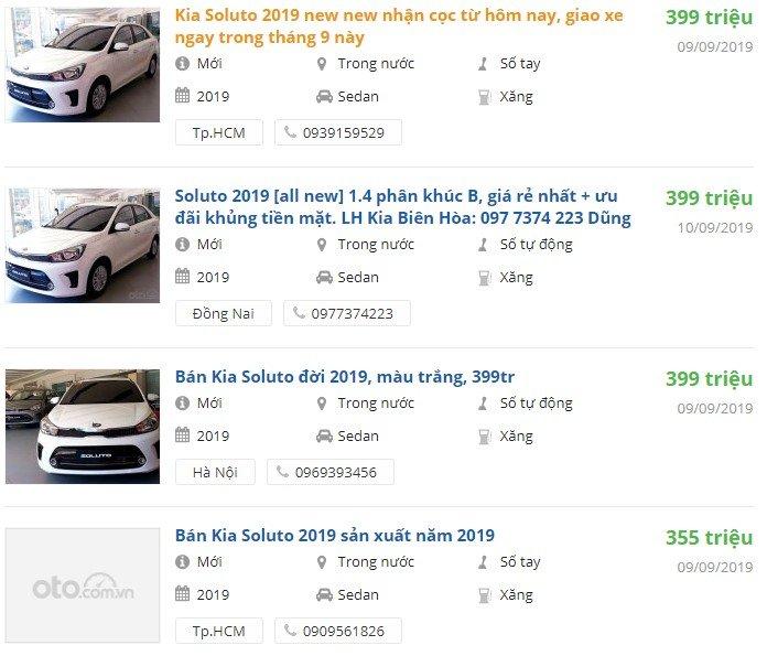 Giá xe Kia Soluto 2019 a4