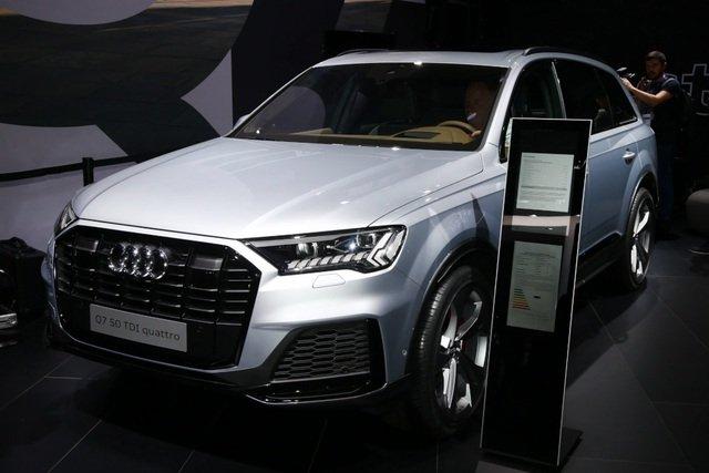 Audi Q7 2020 facelift trình làng tại triển lãm ô tô Frankfurt a17