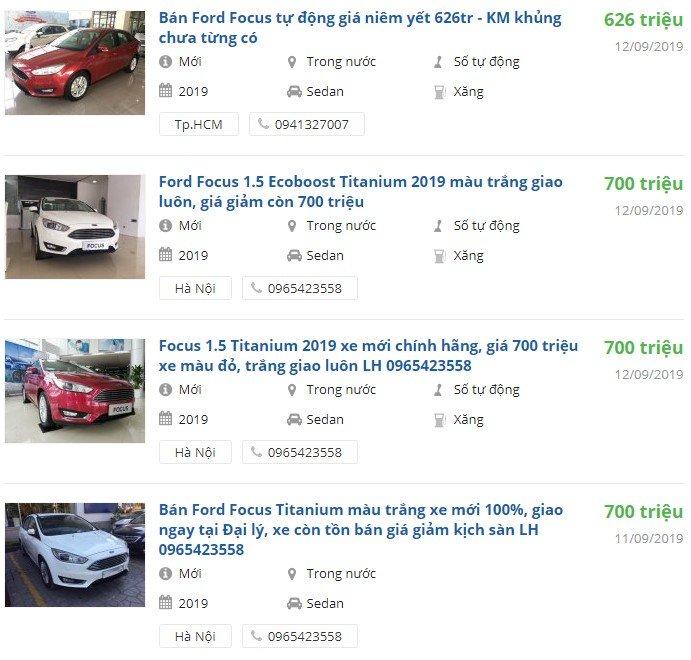 Ford Focus 2019 có khuyến mại gì.