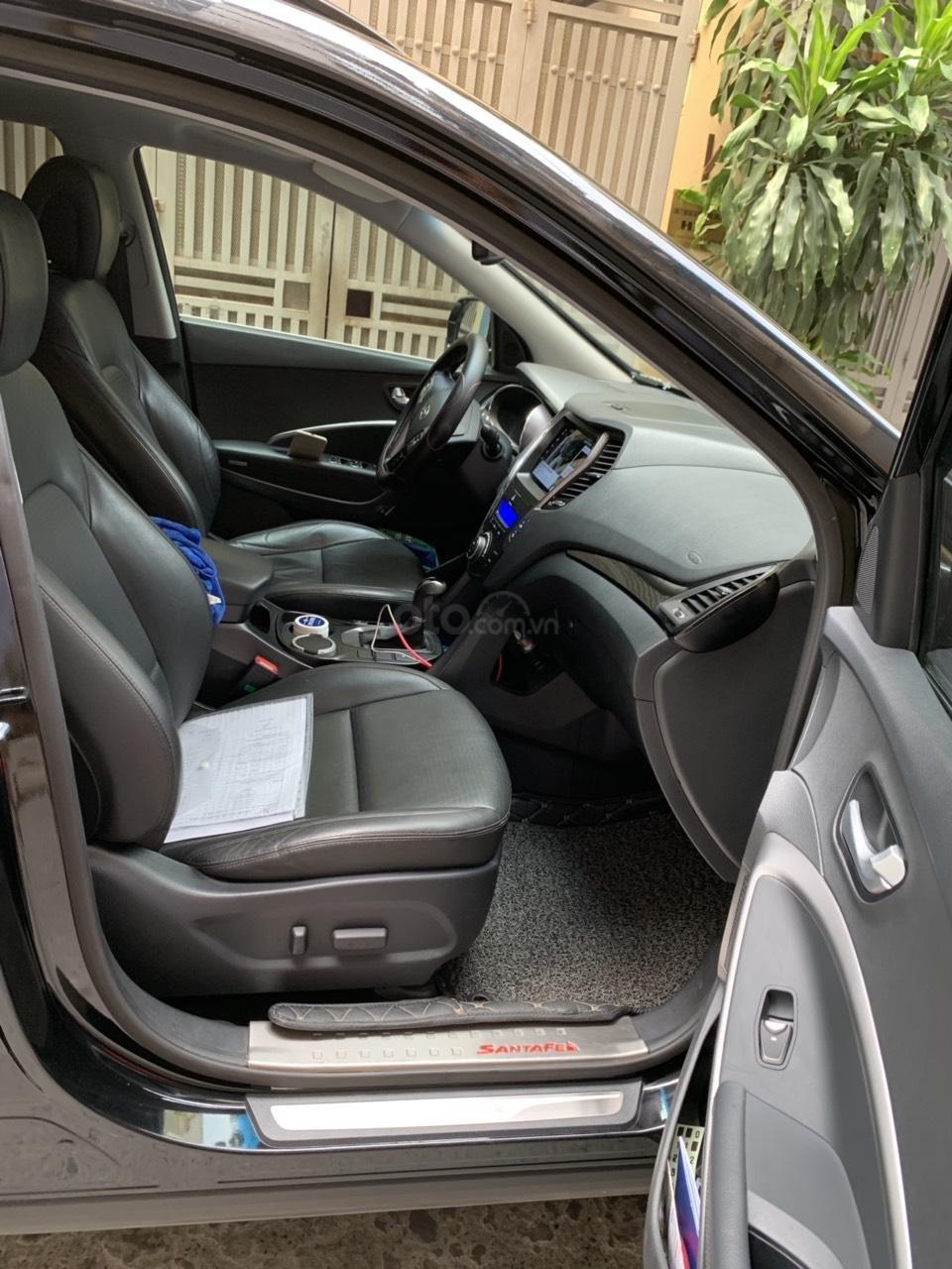 Bán Hyundai Santa Fe 4W sản xuất 2014, màu đen, nhập khẩu nguyên chiếc (4)