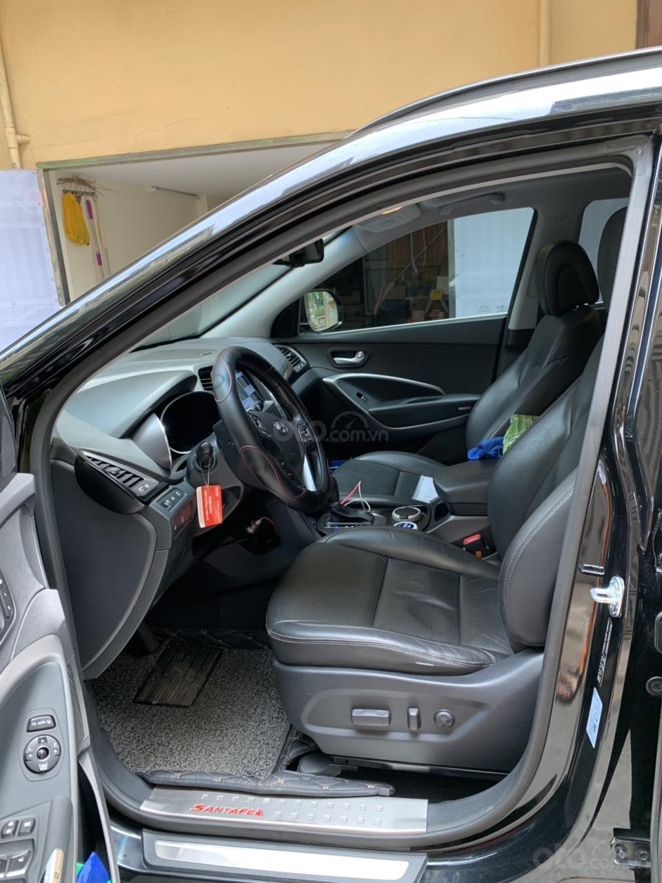 Bán Hyundai Santa Fe 4W sản xuất 2014, màu đen, nhập khẩu nguyên chiếc (2)