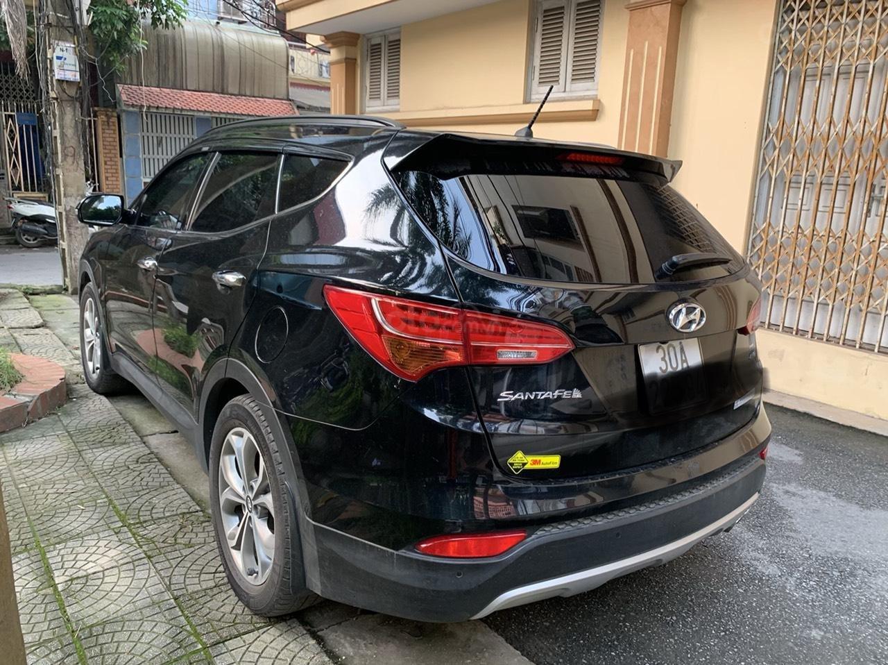 Bán Hyundai Santa Fe 4W sản xuất 2014, màu đen, nhập khẩu nguyên chiếc (8)