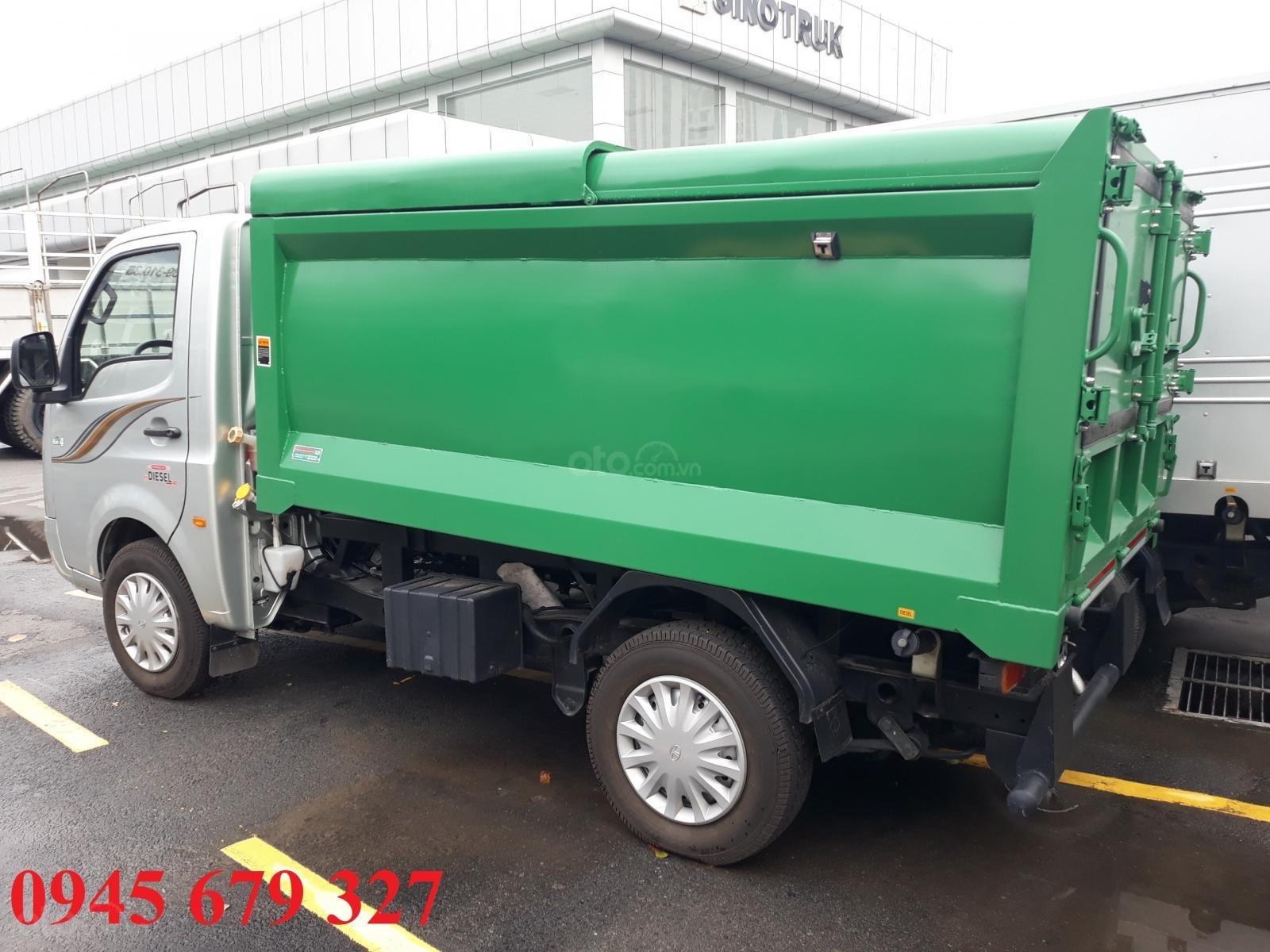 Xe chở rác Tata 990Kg thùng 4 khối máy dầu giá rẻ, hỗ trợ trả góp (3)